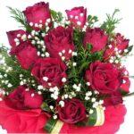 Dozen Red Roses Bouquet close