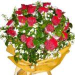 Two Dozen Red Roses Bouquet close