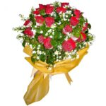 Two dozen red Roses in a bouquet