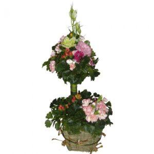 Flower garden mixed basket