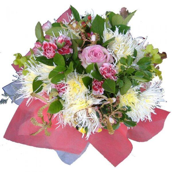 Bouquet of mixed seasonal flowers