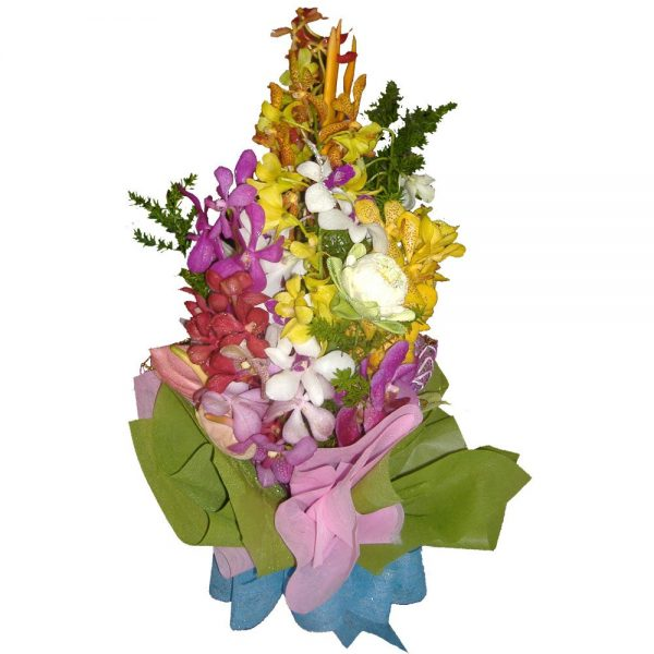 Mixed Orchids in a bouquet