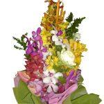 Mixed Orchids Bouquet close