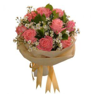 Peach Roses in a bouquet