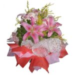 Pink Lilies Bouquet