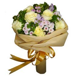 White Roses in a mixed bouquet