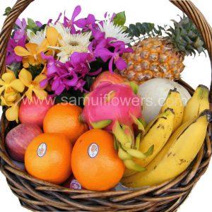 Basket of fruit, close up