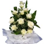 White Roses large bouquet close