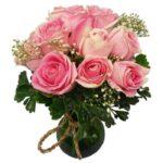 Pink Roses Vase