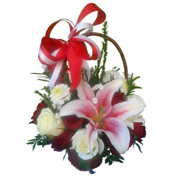 Lily and Roses in a basket