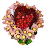 Chocolates & Roses in a  Heart