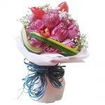 Koh Samui Florist favorite, pink Lotus Lilies in a bouquet