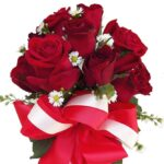 Red Roses in a Vase close