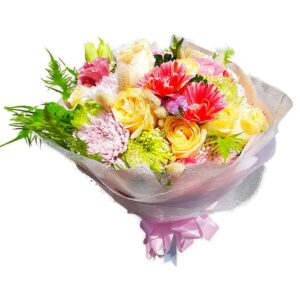Bright Mix of flowers in a Bouquet