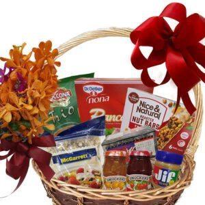 Breakfast Gift Basket close=up