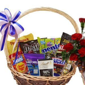 Chocolate & Candy Gift Basket close-up